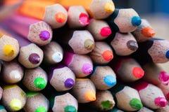 Mnóstwo koloru ołówek dla tworzy każdy rzecz Obraz Stock