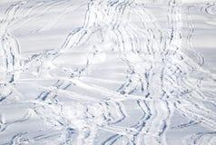 Mnóstwo narciarska ścieżka Obrazy Stock