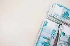 Mnóstwo Rosyjski pieniądze obraz stock
