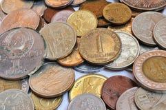 Mnóstwo stare monety fotografia stock