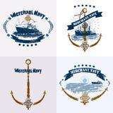 MN_naval_badge_set 库存图片