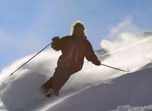 män skidar Royaltyfria Bilder