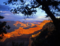 MN0378GrandCanyonSouthRim#2. The Grand Canyon, in Grand Canyon National Park Arizona, photographed from the South Rim in the late afternoon Royalty Free Stock Photos