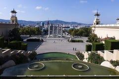 从MNAC的巴塞罗那视图 库存照片