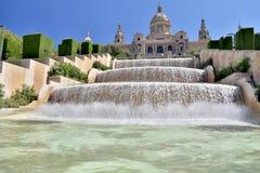 MNAC στη Βαρκελώνη, Ισπανία Στοκ Εικόνα