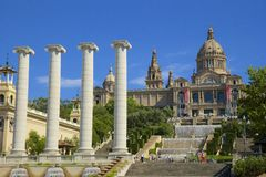 MNAC in Barcelona, Spain Royalty Free Stock Images