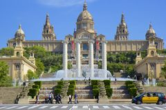 MNAC in Barcelona, Spain Stock Photo