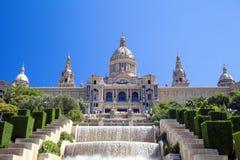 MNAC i Barcelona, Spanien Royaltyfri Bild