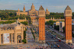 MNAC-museum Barcelona Arkivbilder