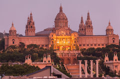 MNAC Museum Barcelona Stock Image