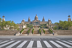 MNAC Museum in Barcelona, Spain Royalty Free Stock Image