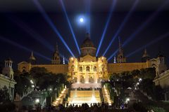 MNAC (National Art Museum of Catalonia) in Barcelona Royalty Free Stock Photography