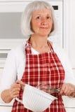 Ménagère aînée Image libre de droits
