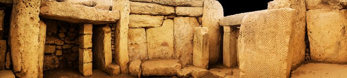 Mnajdra巨石废墟 免版税库存照片
