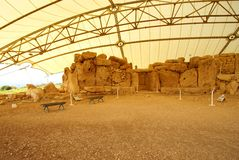 Mnajdra Temples -  UNESCO World Heritage Site Stock Photo