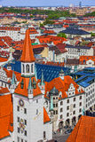 München in Beieren, Duitsland Oude stadsarchitectuur Stock Afbeelding