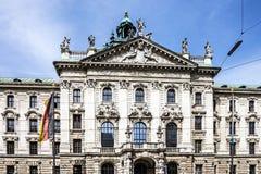 München Beieren, Duitsland Traditionele architectuur van de bouw Royalty-vrije Stock Afbeelding