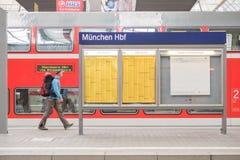 München Hbf Stock Photos