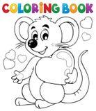 Ämne 1 för valentin för färgläggningbok Arkivbild