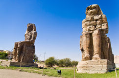 Mnemon Colossus. Two Colossus near the Luxor, Egypt Royalty Free Stock Images