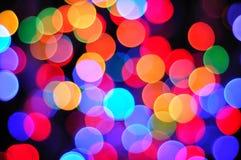 Mång- bakgrund för färgdefocuslampa Royaltyfri Bild