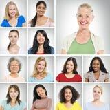 Mång- etniska kvinnor Royaltyfri Fotografi