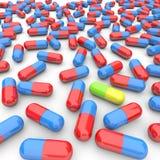 många en unik pill Royaltyfri Foto