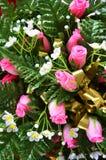 Många plast- blomma Arkivfoton