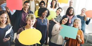 Mångfald Team Community Group av folkbegreppet Arkivbilder