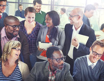 Mångfaldserviceorganisation Team Discussion Working Concept Arkivfoton