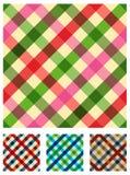 mångfärgad modelltableclothtextur Arkivfoto