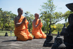 mnichów buddyjskich pray Obraz Stock