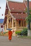 mnich buddyjski Laos Obraz Royalty Free