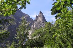 Mnich Peak in Tatra Mountains. This mount is similar to a Monk so that it is called Royalty Free Stock Photo