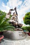 Mnicha buddyjskiego Thich Quan Duc pomnika zabytek Ho Chi Minh (Sai Fotografia Stock