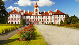 Mnichovo Hradiste Castle in Czech republic. Mnichovo Hradiste Castle -  Chateau, a Baroque aristocratic residence. Czech republic Royalty Free Stock Photo