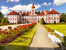 Mnichovo Hradiste Castle in Czech republic. Mnichovo Hradiste Castle -  Chateau, a Baroque aristocratic residence. Czech republic Royalty Free Stock Images