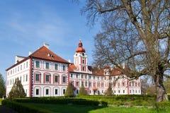 Mnichovo Hradiste slott, bohemiskt paradis, Bohemia, Tjeckien, Europa Royaltyfri Fotografi