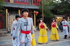 Mniejszość etniczna taniec obraz stock