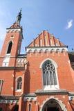 Mniejszościowa bazylika w WÄ… wolnica (Polska) zdjęcia stock