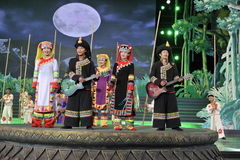 Mniejszościowy przedstawienie, Chiny zdjęcia royalty free