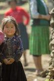 Mniejszości etnicznej dziecko przy starym Dong Van rynkiem, Fotografia Royalty Free