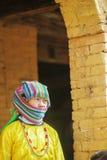 Mniejszości etnicznej kobieta przy starym Dong Van rynkiem, Zdjęcia Stock