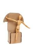 Mnikin out of a box Stock Image