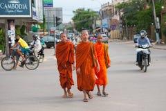mnisi buddyjscy Obraz Royalty Free