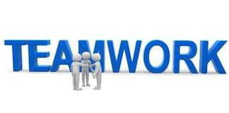 Människa-teamwork tre 3d begrepp Arkivfoton
