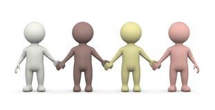 Människosläkten tillsammans, jämställdhetbegrepp Arkivbilder