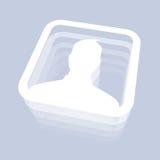 Männliche Benutzer-Ikone Stockbild