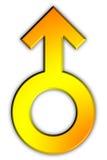 Männliche Geschlechts-Ikone Lizenzfreie Stockfotografie
