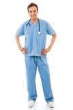 Männliche Gesundheitspflege-Arbeitskraft Lizenzfreie Stockfotos